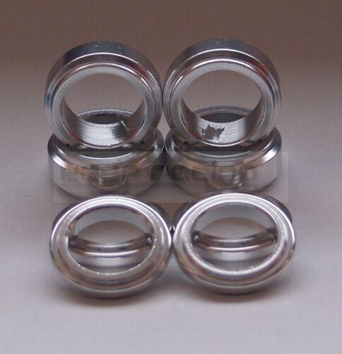 Set Distanzstücke, Aluminium,silber,für 17mm Achsschenkel,4x 17x5mm,4x 17x10mm