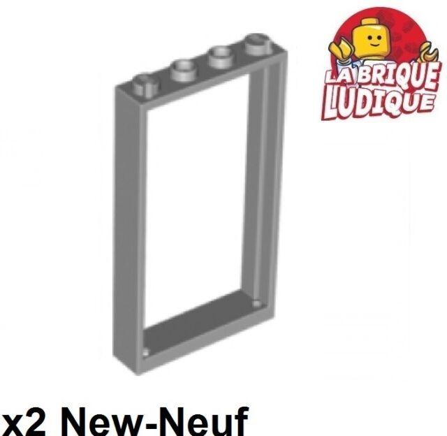 LEGO Tür 60596 60621 NEUWARE Rahmen hellgrau 1x4x6 mit Gittertür hellgrau