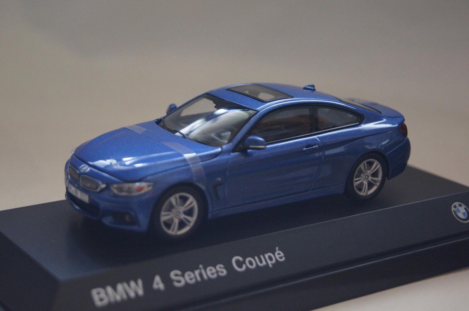 Bmw 4er coupé f32 2014 blau metallic 1 43 bmw neu & ovp 80422318858