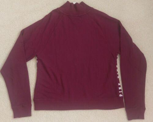 Half Nwt Zip di maglione Victoria's Maglione scuro pullover Secret marrone gBw8SxxHqO