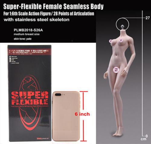 1 6  TBLeague Super Flexible Femelle sans Soudure en Acier Inoxydable figure corps S26A Jouet  80% de réduction