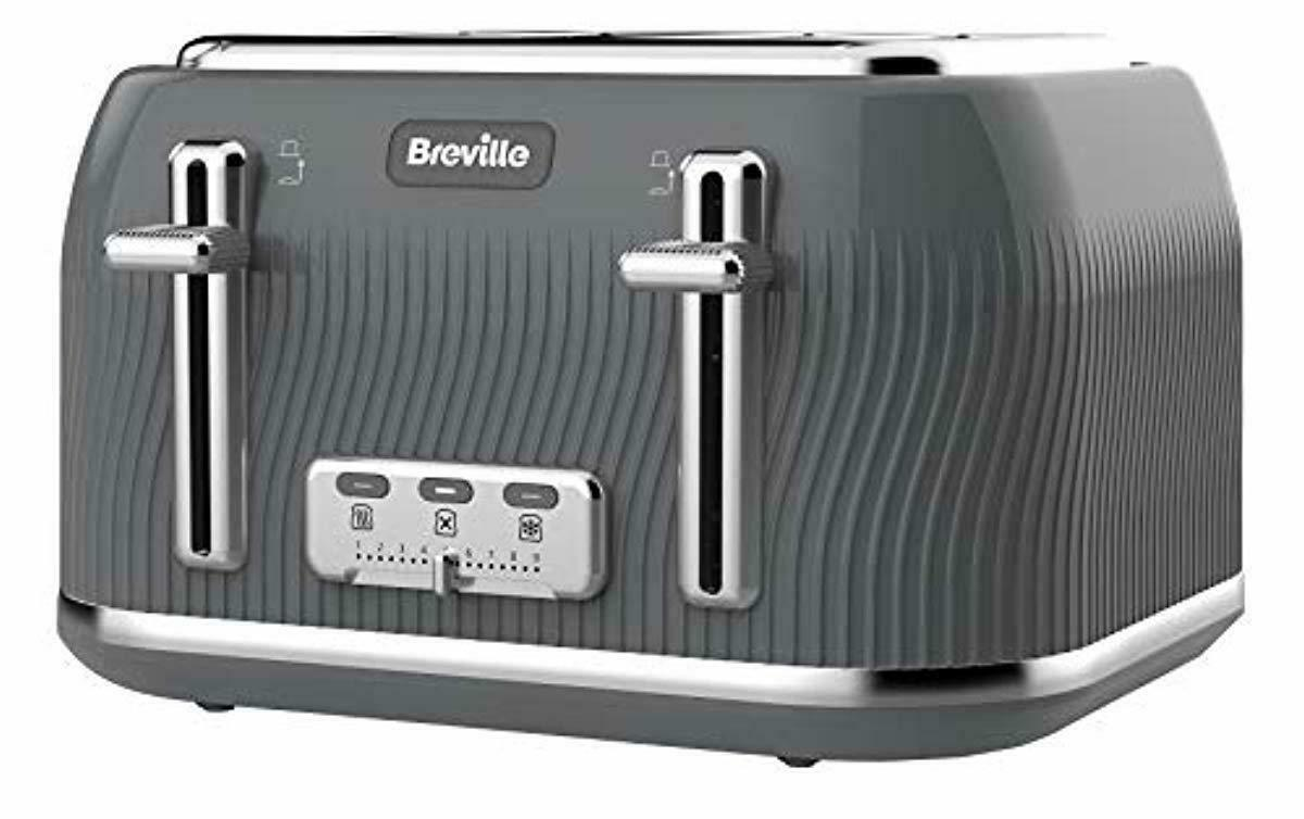 Kitchen Toaster 4 Slice gris Breville Bread Breakfast Maker Home Appliance