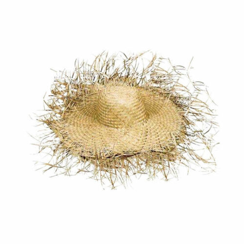 naturfarben ausgefranst Strohhut Hut Tom aus Stroh