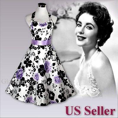 Lavender Purple With Black White Party Wedding Graduation Prom Evening Dress Ebay
