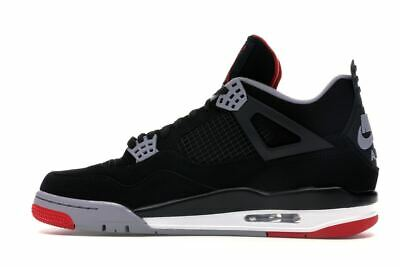 sale retailer 48138 84418 Nike Air Jordan 4 Retro AJ OG Bred 2019 308497-060 Black Cement 4 Mens Size  11.5 | eBay