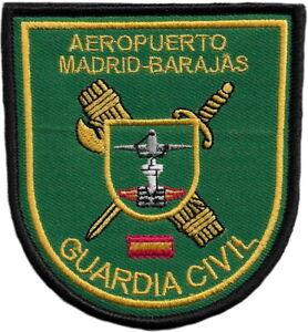 GUARDIA CIVIL AEROPUERTO MADRID BARAJAS POLICE EB01424 PARCHE INSIGNIA EMBLEMA