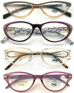Ladies-Retro-Vintage-Cat-Eye-Design-Selection-Reading-Glasses-Elegant-Spectacles