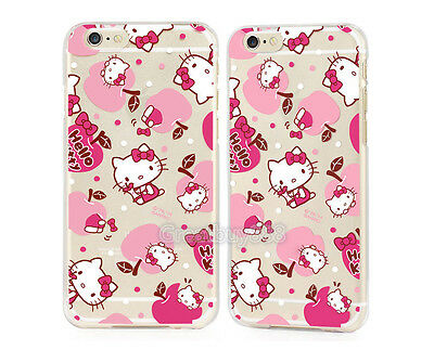 TPU Cute Cartoon Crystal Clear Hello Kitty Soft Case Cover for iPhone 6 Plus 5S