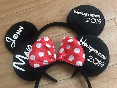 2x Disney Personalizzata Appena Sposato E La Signora Mr Regalo Matrimonio Minnie Mouse-mostra Il Titolo Originale Materiali Accuratamente Selezionati