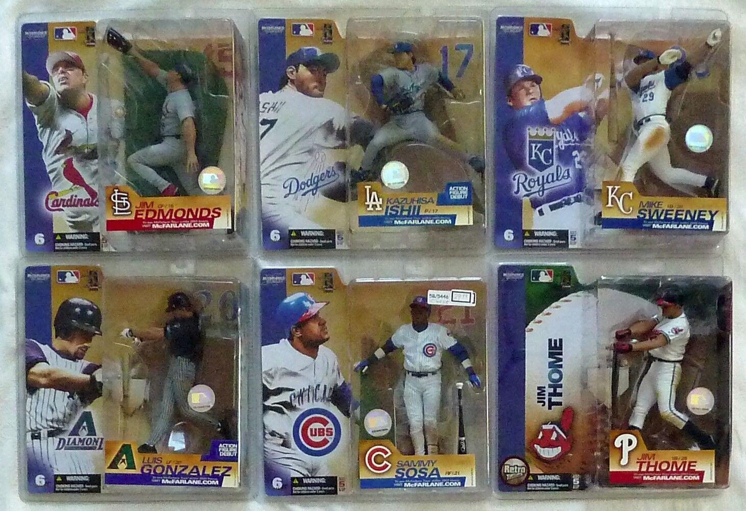 McFarlane MLB 6 COMPLETE CHASE VARIANTEdmonds,Gonzalez,Ishii,Sosa,Sweeney,Thome