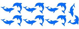 DOLPHINS-x14-Vinyl-Kitchen-Bathroom-Bedroom-Tile-Wall-Door-Glass-Stickers-Decals