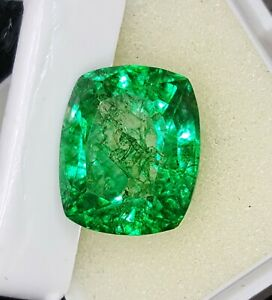 10.37 Ct Loose Gemstone Natural Emerald Lab Certified Colombian Transparent eBay
