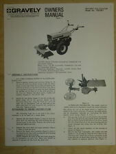 GRAVELY ROTARY CULTIVATOR OWNERS MANUAL MODEL #15579E1