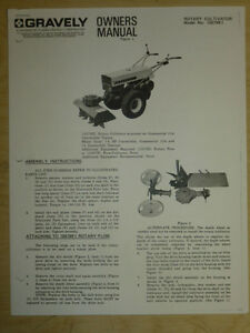 gravely rotary cultivator owners manual model 15579e1 ebay