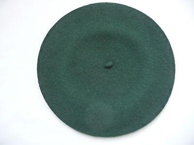 Beret Basque De Luxe 100% Wool Green RN