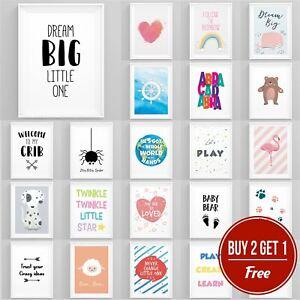 Nursery-imprimes-ensembles-enfants-chambre-salle-de-jeux-enfants-Mural-Art-Garcons-Filles-Unisexe