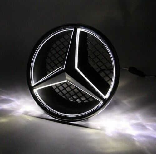 Front grille grill star emblem illuminated led light for for Illuminated star mercedes benz installation