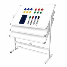 White Board Dry Erase Wall Mounted For Teaching Training Silver Aluminium Frame