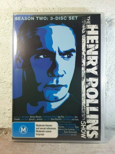 The Henry Rollins Show - Season 2 Two (DVD : 3 DISC) Massive 10 Hours ! Rare