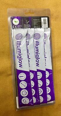 """Illumiglow Glow Sticks 3 x Yellow 1 x High Intensity Cyalume Stick 4 Pack 6/"""""""