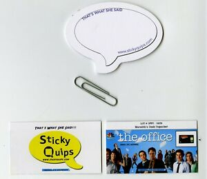 034-The-Office-034-screen-used-paper-clip-25-pad-Sticky-Quips-Speech-Bubble-Balloon