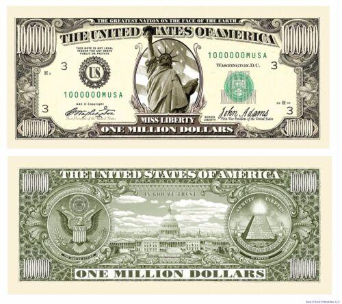 1000 Traditional Million Dollar Fake Bills one thousand 1,000 wholesale lot