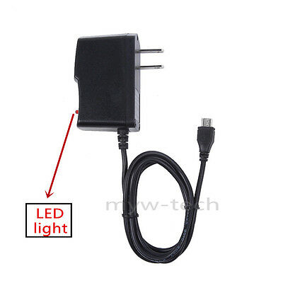 """AC//DC Wall Power Charger Power Adapter Cord For LG G Pad V410 7.0/"""" tablet White"""