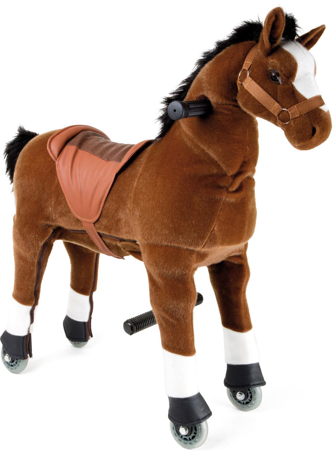 Cavallo Cavalcabile con ruote giocattolo bambini Fulmine – Piccolo
