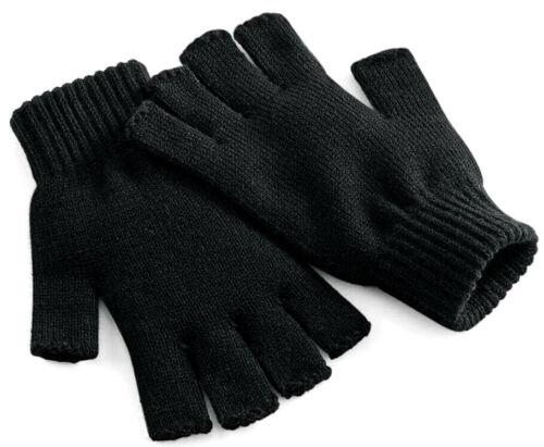 Men Ladies adult Hlaf finger fingerless gloves