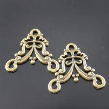 **10pcs Antique Bronze Tone Alloy Baroque Floral Connector Charm Craft 31395