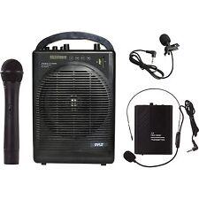 Pyle PWMA1216BM Portable Pa Speaker Amplifier&mic.sys.