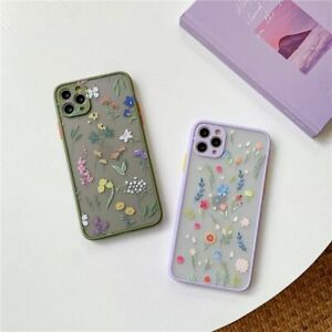 Details about Luxury 3D Relief Flower Case Matte Bumper Phone Cover for iPhone 12 11 X XS SE 8