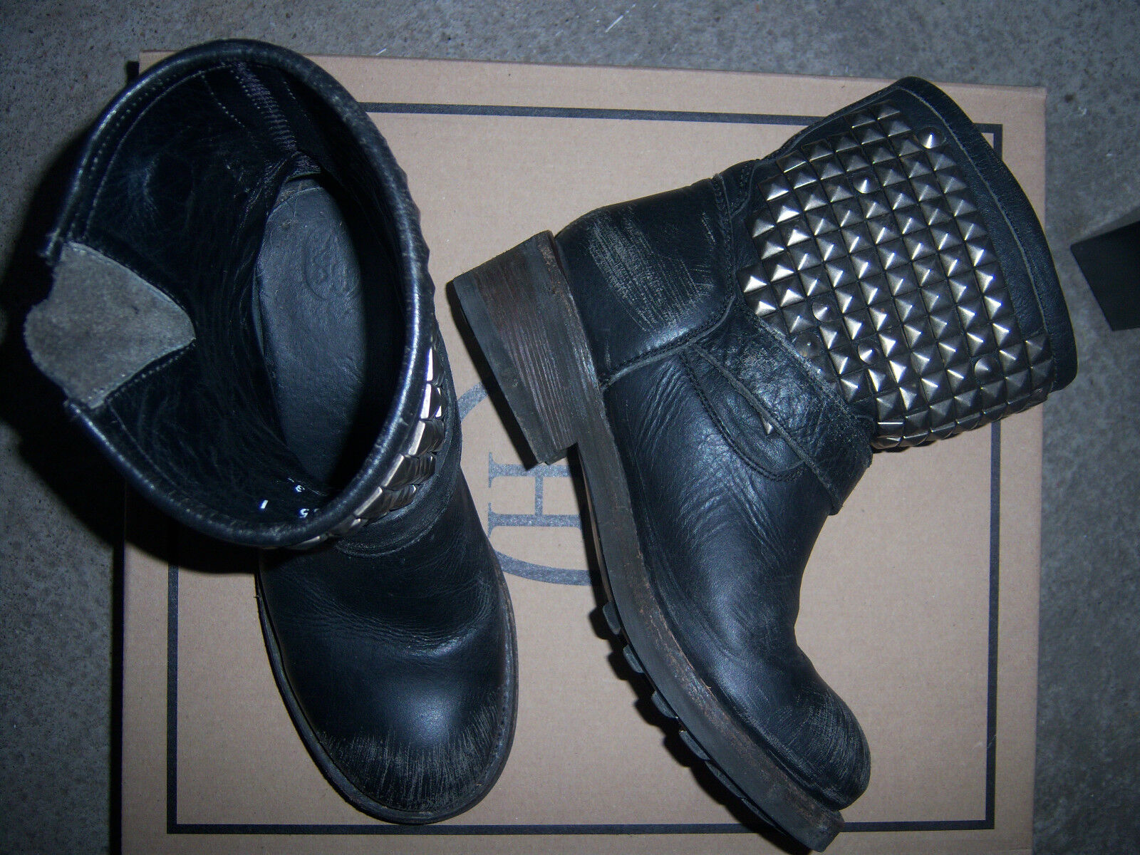 ASH Bottines TITAN Cuir negro 36 TBE ASH mujer TITAN TITAN mujer botas negro US 5, UK 3,5 1f192a