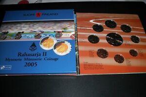 coffret bu finlande 2005 cycliste 8pieces + 5 euros