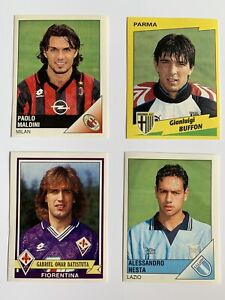 1996-97 ITALIAN CALCIO SOCCER PANINI ROOKIE CARDS BUFFON MALDINI NESTA BATISTUTA