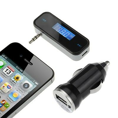 3.5mm FM Transmitter In-Car Wireless Radio Adapter Hands-free for iPhone Samsung