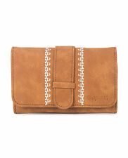RIP CURL WOMENS PURSE.HESPERIA BROWN FAUX LEATHER MONEY COIN WALLET 7W UGL4 1046