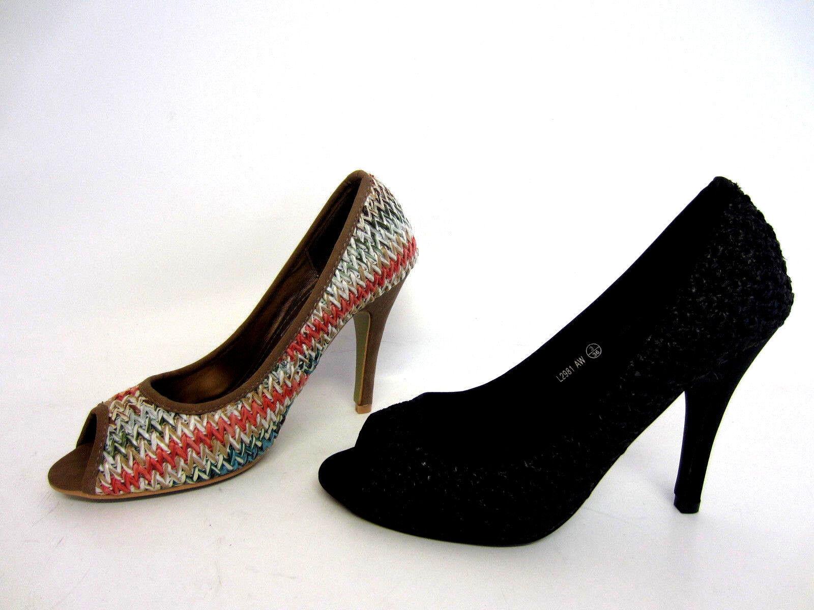 Anne Michelle L2R981 Ladies Peep Toe Shoe UK 3 to 8 (R2B)