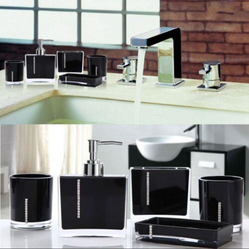 Delight salle de bains Accessoires Set Diamant Rivets 5pcs decration Set