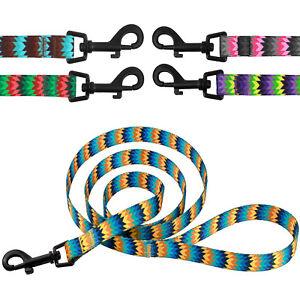 Dog-Leash-Nylon-Lead-for-Dogs-Training-5ft-long-Puppy-Small-Medium-Large