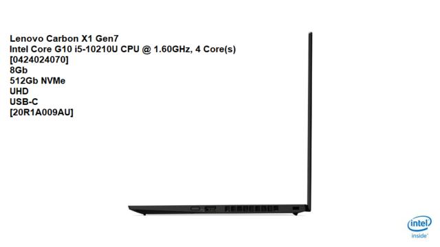 Lenovo ThinkPad X1 Carbon G7 14in FHD i5-10210U 8GB 512GB Win10P Laptop