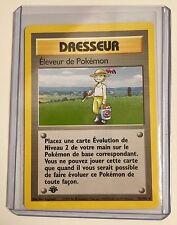 Pokemon DRESSEUR (Trainer)1st Edition ELEVEUR De POKEMON 76/102 FRENCH Rare MINT