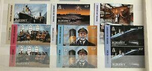Alderney - 2012 Centenario De Titanic Setenant pares Set NHM SG A448-A453