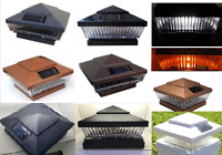 10-pack Premium Solar 5x5 Or 6x6 Post Cap Light With 5 Amber Or White Leds