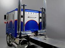 Simulate Aluminum Exhaust Tank Tube Tamiya RC 1/14 Globeliner King Hauler Semi