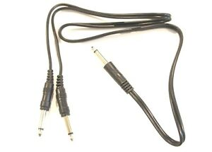 3ft-1-4-inch-Mono-Male-TS-to-2-x-1-4-inch-Mono-Male-TS-Y-Splitter-Cable-Adapter