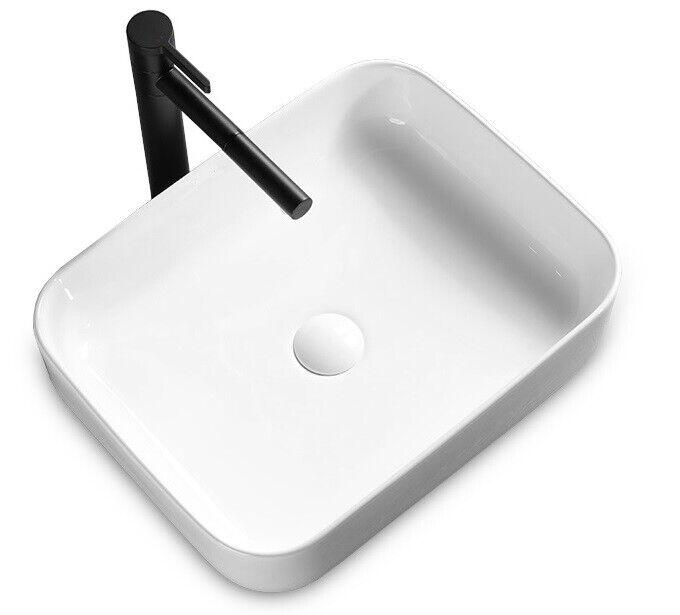 SQUARE lavabo DEMI Slim Bianco Ceramica REA MIGLIOR PREZZO