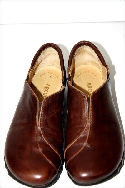 ARCUS zapatillas Derby Cuir marrón Petits Talons  T 37 TTBE