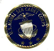 "Medallion: US NAVAL SEA CADET CORPS, (2"" in diameter), brass, self adhesive"