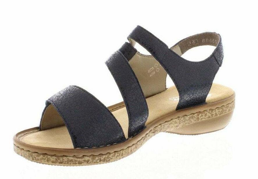 Damen Rieker Blaue Sandalen 628j1-14